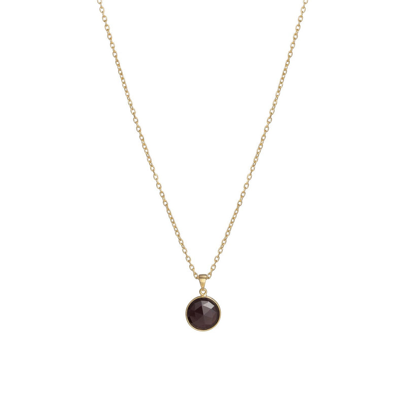 Puck-Wanderlust-Gold-Garnet-Birthstone-Charm-Necklace-Cable-Chain-64cm