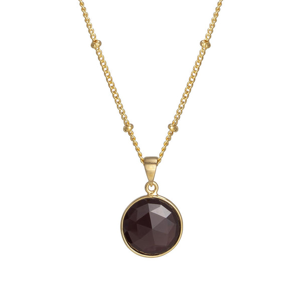 Puck-Wanderlust-Gold-Garnet-Birthstone-Charm-Necklace-Satelite-Chain-Crop