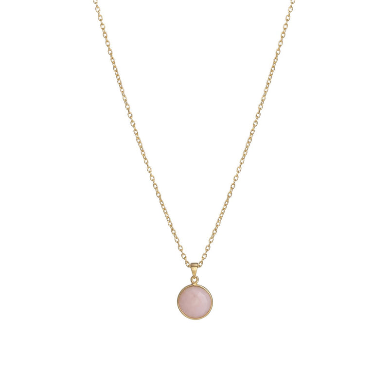 Puck-Wanderlust-Gold-Pink-Opal-Birthstone-Charm-Necklace-Cable-Chain