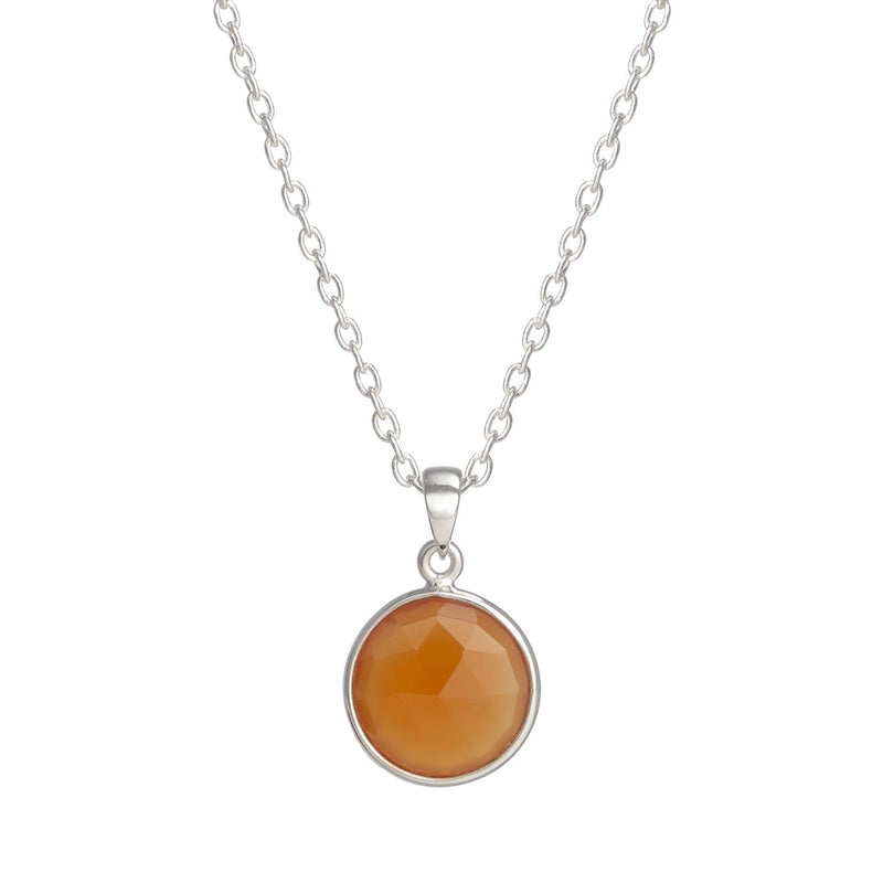 Puck-Wanderlust-Silver-Carnelian-Birthstone-Charm-Necklace-Cable-Chain-Crop