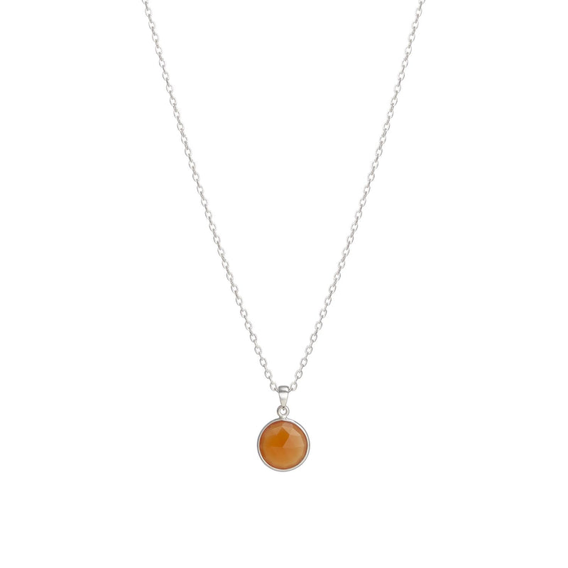 Puck-Wanderlust-Silver-Carnelian-Birthstone-Charm-Necklace-Cable-Chain