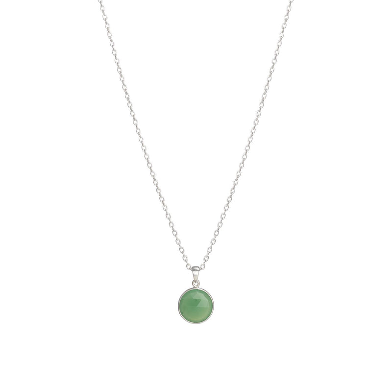 Puck-Wanderlust-Silver-Chrysoprase-Birthstone-Charm-Necklace-Cable-Chain