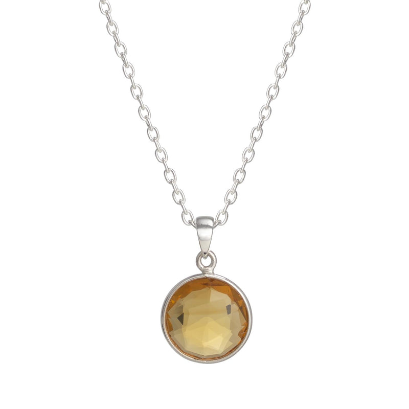 Puck-Wanderlust-Silver-Citrine-Birthstone-Charm-Necklace-Cable-Chain-Crop