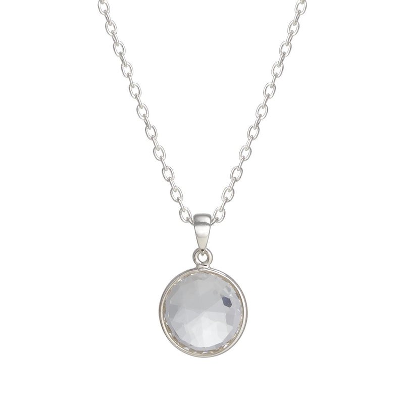 Puck-Wanderlust-Silver-Clear-Quartz-Birthstone-Charm-Necklace-Cable-Chain-Crop