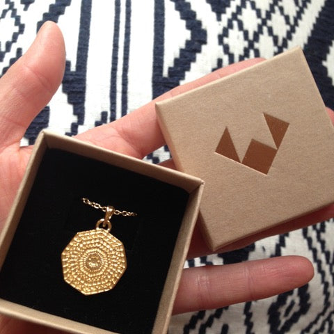 Puck Wanderlust_Gold Sun Mandala Necklace_Packaging