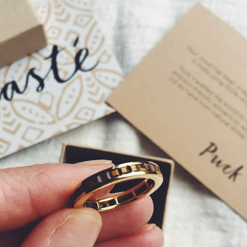 Puck Wanderlust_Gold Tigers Eye Eternity Ring__Packaging