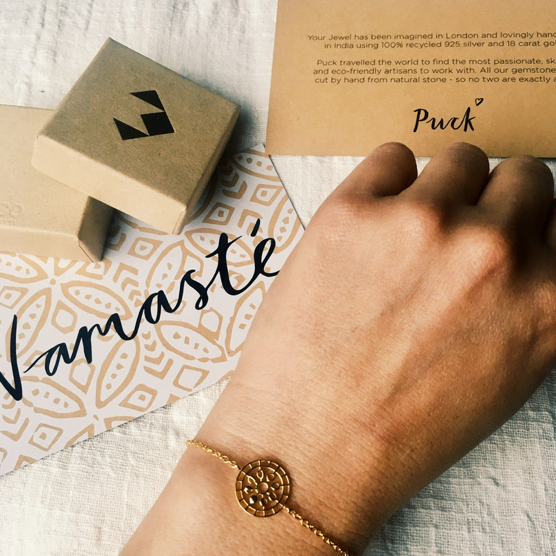 Puck Wanderlust_Moon Mandala Bracelet_Gold_Packaging