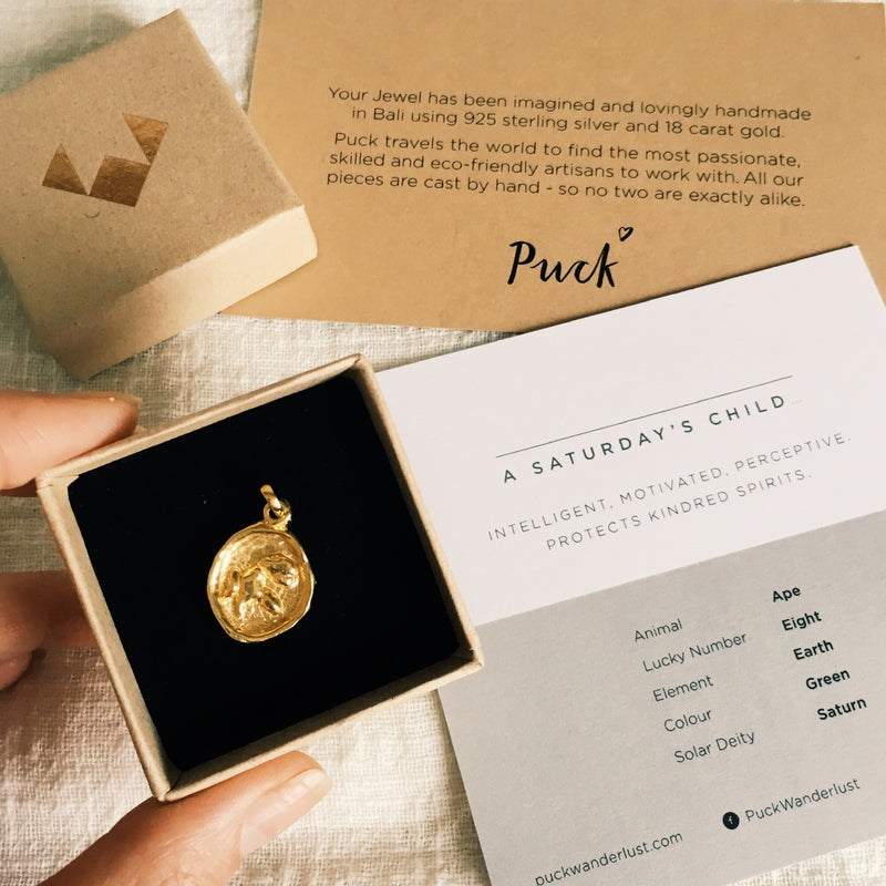 Puck Wanderlust_Saturdays Child Strength Totem Gold Ape_Packaging