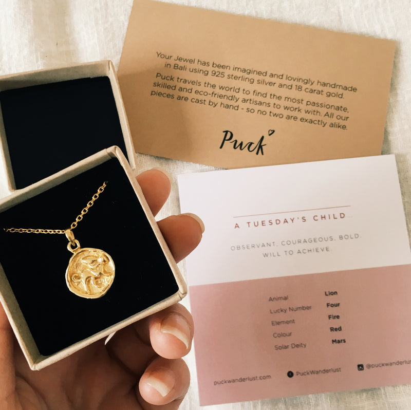 Puck Wanderlust_Tuesdays Child Courage Totem Gold Lion_Packaging