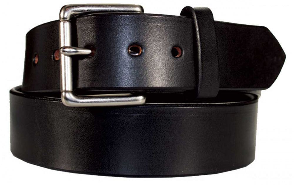 "Men's CCW Heavy Duty Concealed Carry Leather Gun Belt 14oz Full Grain Leather 1 1/2"" wide"