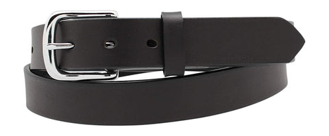 "1 1/4"" Plain Smooth Leather Dress Belt,100% Full Grain Leather"