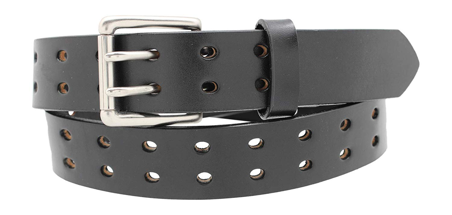 "1 1/2"" Double Prong Double Holes, Full Grain Leather Belt, Work Belt, Casual Belt"