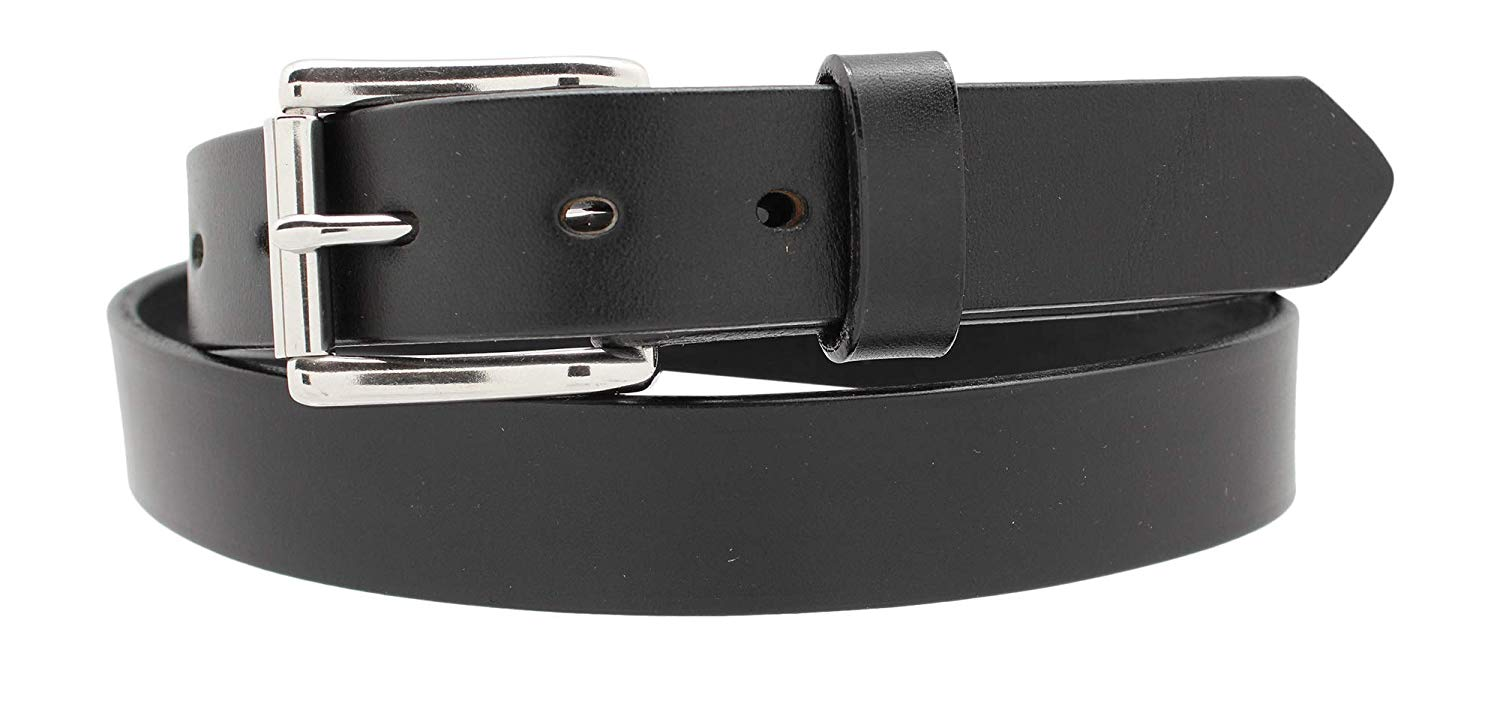 "Heavy Duty Work Belt -1 1/4"" Full Grain Leather Belt Casual Jean Belt"