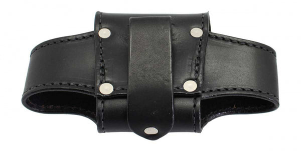 Horizontal Plain Leather Cell Phone Holster