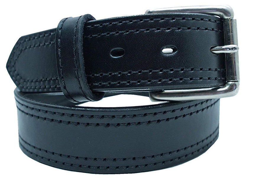 Heavy Duty Concealed Carry Leather Stitched Gun Belt - YourTack