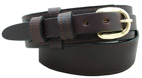 "1 1/2"" English Bridle Leather Ranger Style Dress Belt"