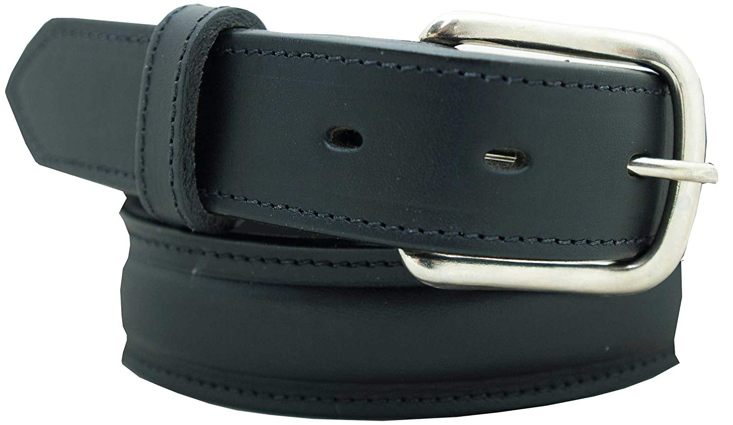 Men's Dress Belt - 1 1/4 English Bridle Leather Raised Dress Belt