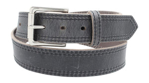 Casual Jean Belt Distressed Leather Belt Double Stitched Full Grain Leather