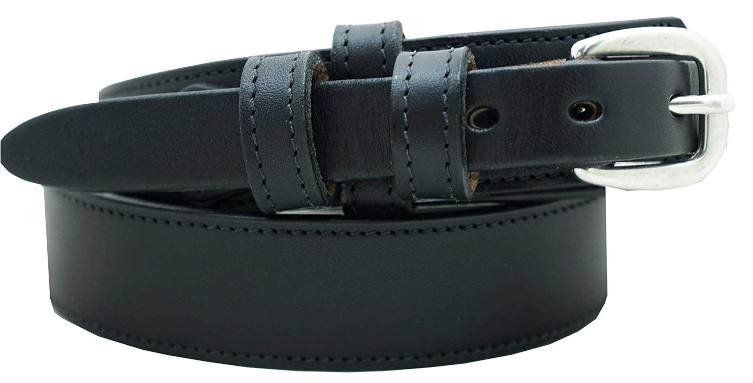 "Men's Ranger Dress Belt - 1 1/4"" English Bridle Leather Dress Belt"