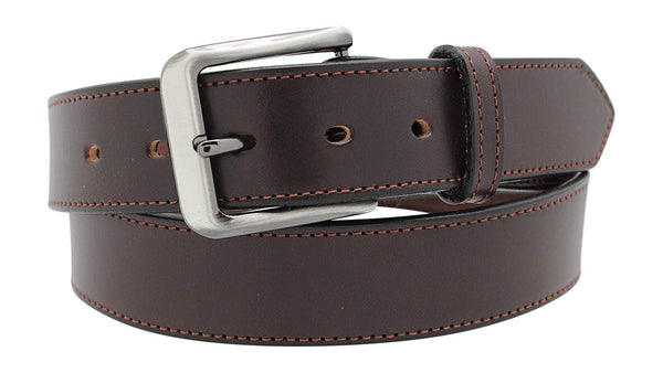 "Men's Dress Belt - 1 1/2"" English Bridle Leather Dress Belt"