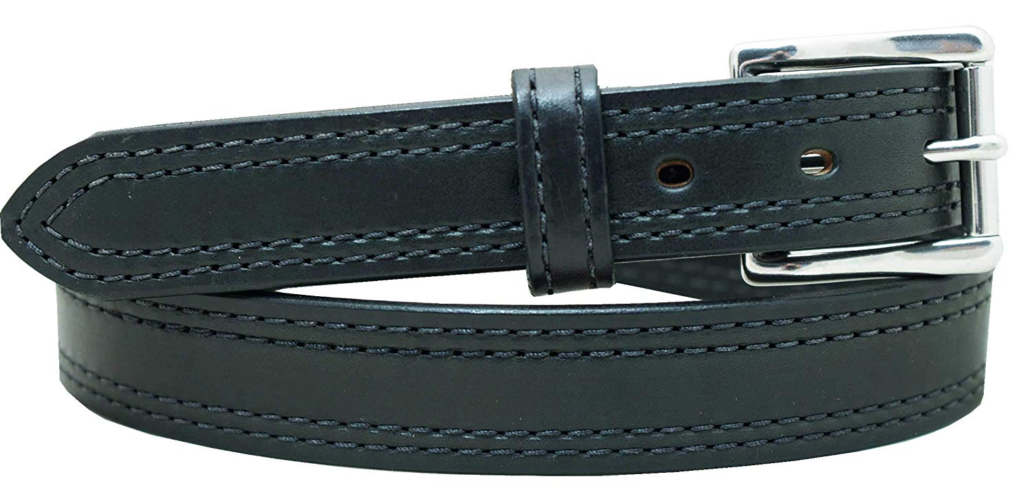 "1 1/4"" Heavy Duty Double Stitched Leather Gun Belt Strong No Crack CCW Belt"