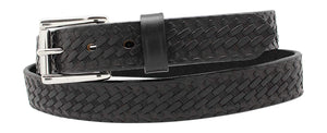 "1 1/4"" Basketweave Embossed Leather Heavy Duty Work Belt"