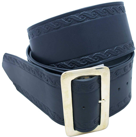 Santa Belt Leather with Design 3 1/2""