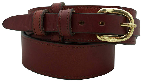 "Men's Ranger Dress Belt - 1 1/2"" English Bridle Leather Ranger Style Dress Belt"