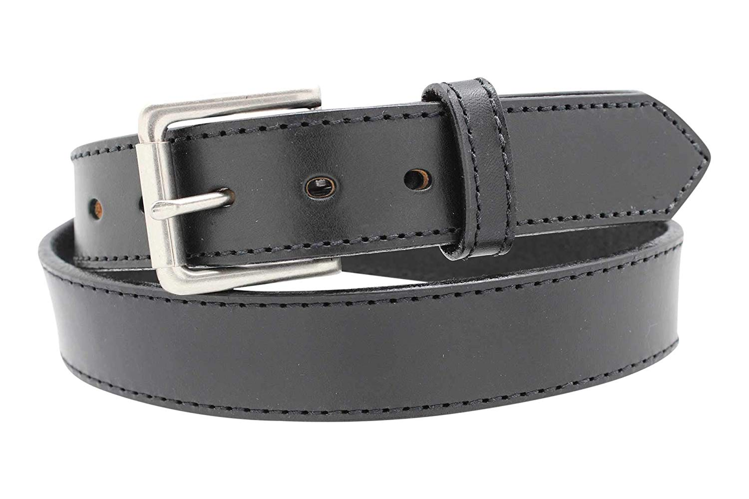 Heavy Duty Concealed Carry CCW Leather Stitched Gun Belt, 14 oz