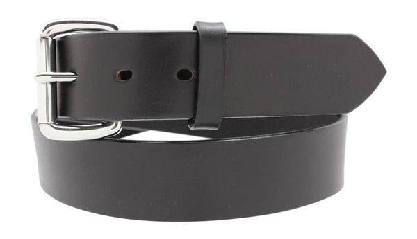 "1 1/2"" Men's Casual Latigo Leather Belt w/ Brass Roller Buckle"