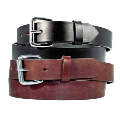 "Men's Casual Latigo Leather Belt - 1 1/2"" w/Brass Roller Buckle"