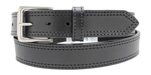 Heavy Duty Concealed Carry Leather Stitched Gun Belt