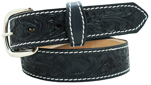 "1 1/4"" Children's Oak Leaf Embossed Belt"