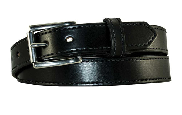 "1 1/4"" Stitched Leather Belt, Heavy Duty Work Belt"