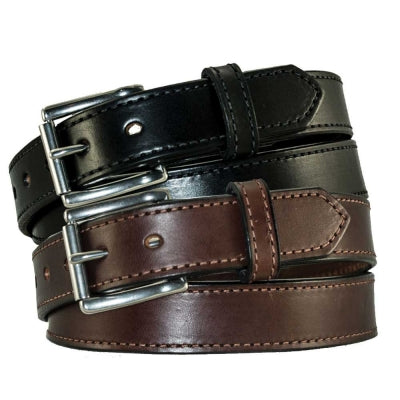 "1 1/4"" Stitched Leather Heavy Duty Work Belt"
