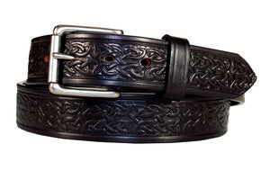 "1 1/2"" Celtic Embossed Heavy Harness Leather Belt"