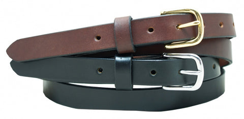 "1"" Plain Smooth Leather Dress Belt ,100% USA Full Grain Leather"