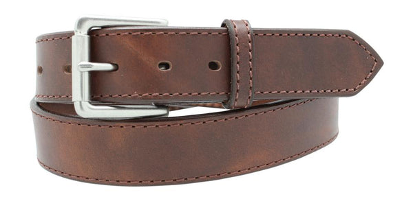"1 1/2"" Distressed Stitched Belt"