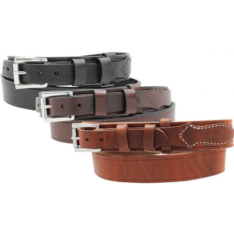 "1 1/2"" Men's Heavy Leather Ranger Belt"