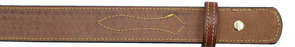 "1 1/2"" English Bridle Leather Basketweave Embossed Ranger Belt"