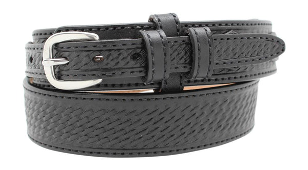 "1 1/2"" Basketweave Pattern Ranger Style Belt"