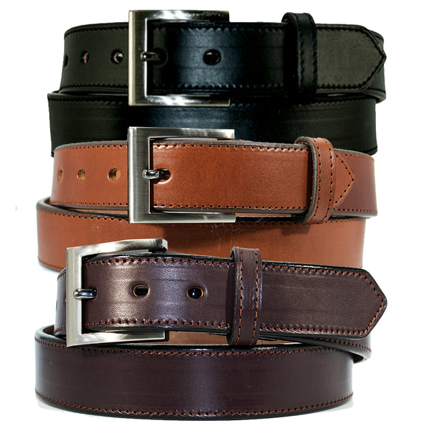 "Men's Dress Belt - 1 1/4"" English Bridle Leather Dress Belt"