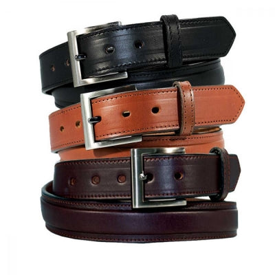 "1 1/4"" English Bridle Men's Leather Raised Dress Belt"