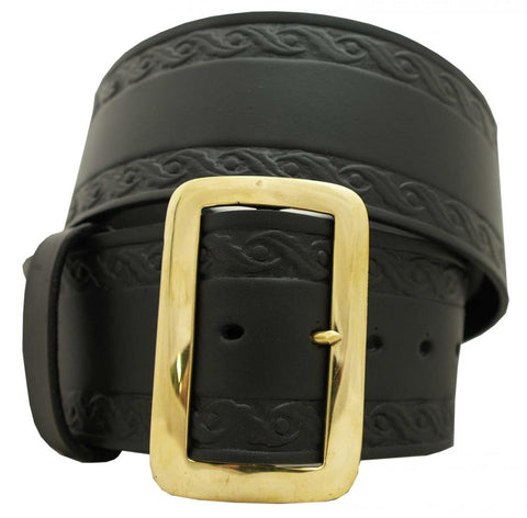 "3"" Leather Santa Belt w/ Design"
