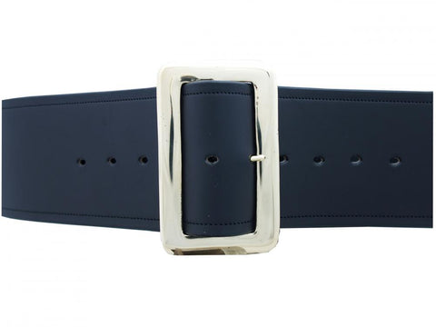Santa Belt Leather with Stitch edge 3 1/2""