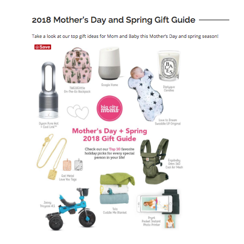 Big City Moms Mother's Day Gift Guide