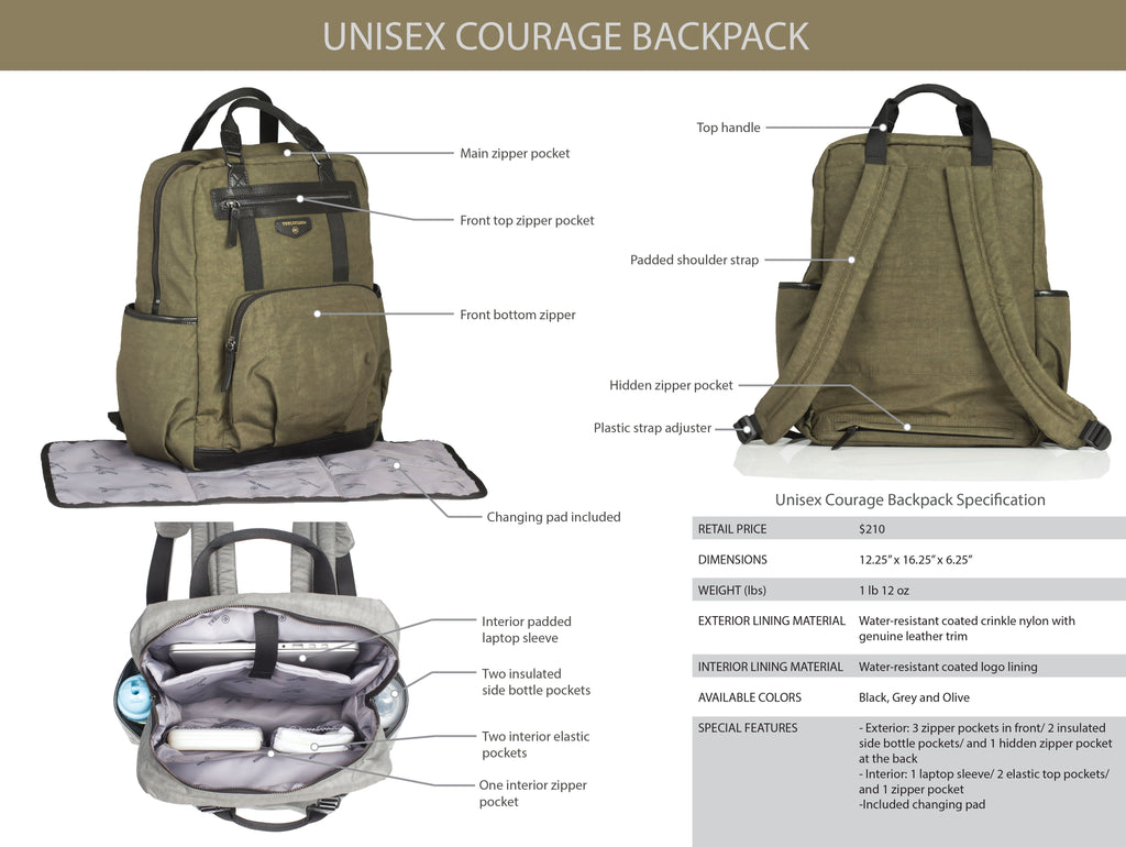 Inside the Unisex Courage Backpack