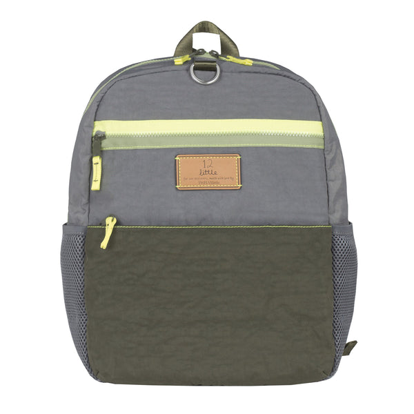 Big Kid Courage Backpack Olive with SPORTS Patches
