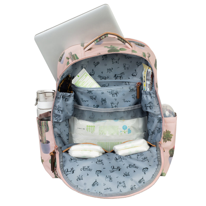 On-The-Go Backpack in Cactus Print 2.0 - TWELVElittle | Diaper Bags, Backpacks Diaper Bags, Diaper Bag Totes & Kids Fashion - Men, Women & Unisex