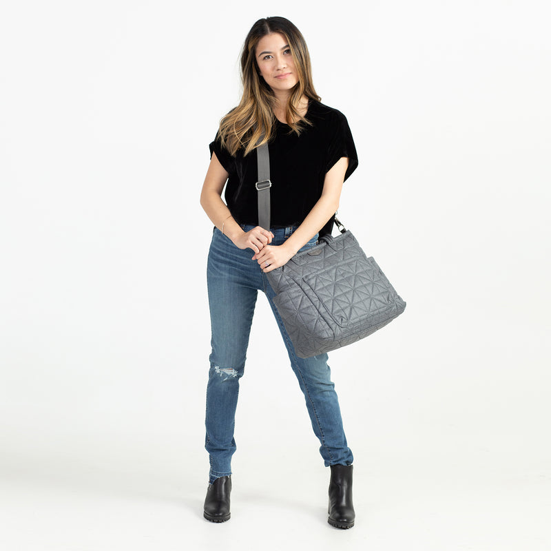 Carry Love Tote in Denim 2.0 - TWELVElittle | Diaper Bags, Backpacks Diaper Bags, Diaper Bag Totes & Kids Fashion - Men, Women & Unisex
